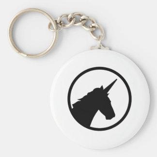 Unicornhuvud Rund Nyckelring