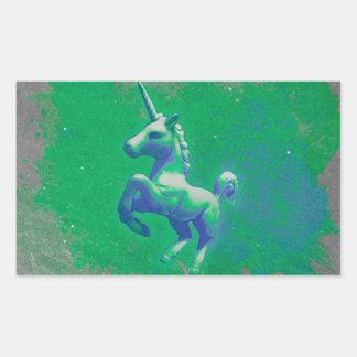 Unicornklistermärkerektangel (den glödande rektangulärt klistermärke