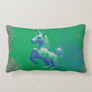 Unicornlumbaren kudder (den glödande smaragden) lumbarkudde