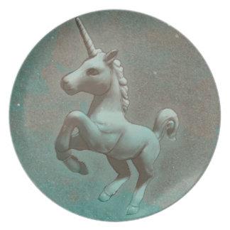 Unicornmelaminen pläterar (krickan stålsätter), tallrik