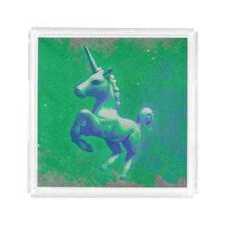 Unicornparfymmagasin (den glödande smaragden) bricka