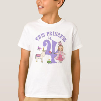 UnicornPrincess4e födelsedagen T-shirt