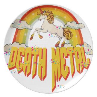 Unicorns av dödmetall tallrik