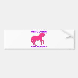 unicorns gör mig kåt bildekal