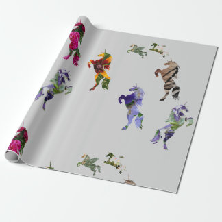 UnicornsMatte som slår in papper, 30 i x 6 ft Presentpapper