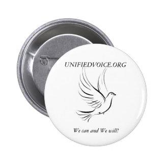 UnifiedVoice.org knäppas Standard Knapp Rund 5.7 Cm