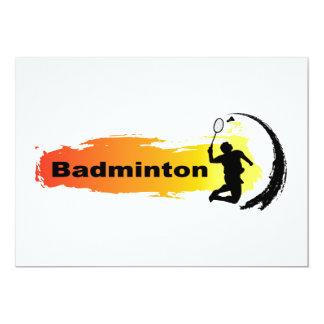 Unik Badminton 12,7 X 17,8 Cm Inbjudningskort