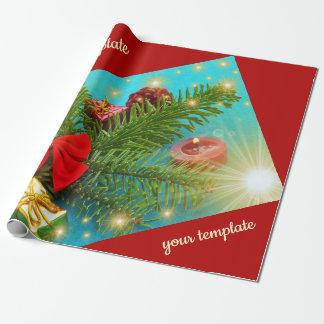 unik jul, glansigt slående in papper som är presentpapper