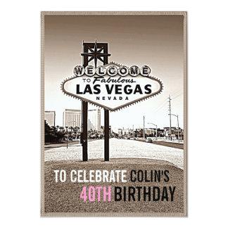 Unik Las Vegas födelsedagsfest inbjudan