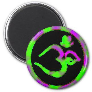 Unik Om undertecknar - Yogakylmagneten Magnet Rund 5.7 Cm