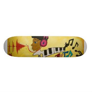 Unik stads- abstrakt skateboarddesign skateboard bräda 21,5 cm
