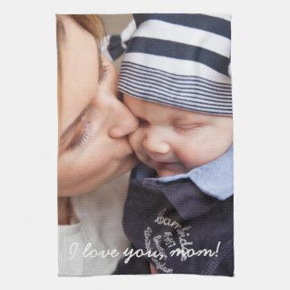 Unika gåvor för personligkökshanddukar för mamma kökshandduk