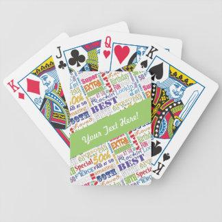 Unika och 50th födelsedagsfestgåvor för sakkunnig spelkort