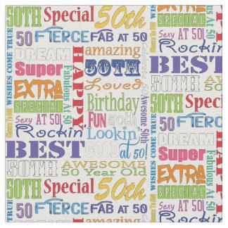 Unika och 50th födelsedagsfestgåvor för sakkunnig tyg