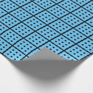 Unikt baby blue slående in papper presentpapper