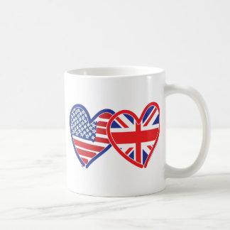 Union Jack/USA Kaffemugg