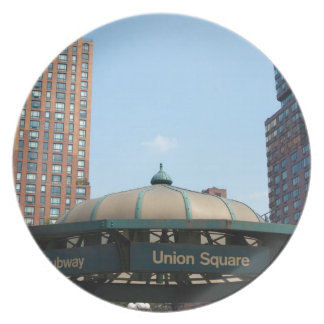 Union kvadrerar tunnelbanan NYC Tallrik