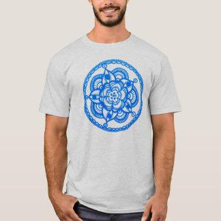 Unisex- blåttMandalaT-tröja vid Megaflora Tshirts