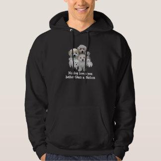 Unisex- Hooded tröja för Bichon Frise valpar