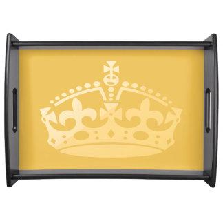 Unisex- krona för slottsalongJubilee Serveringsbricka
