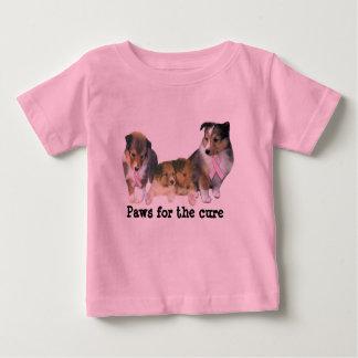 Unisex- skjorta för Sheltie bröstcancersmåbarn T Shirt