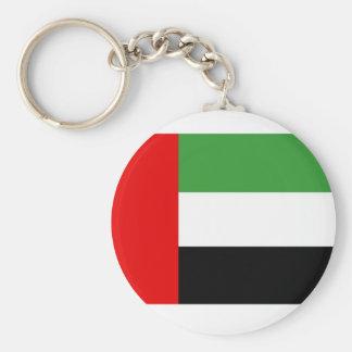 United Arab Emirates flagga Rund Nyckelring