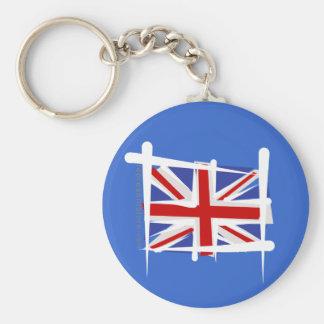 United Kingdom borstar flagga Rund Nyckelring