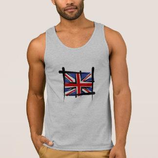 United Kingdom borstar flagga Tank Top