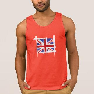 United Kingdom borstar flagga Tanktop