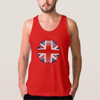 United Kingdom bubblar flagga Tanktop