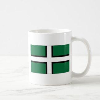 United Kingdom Devon flagga Vit Mugg