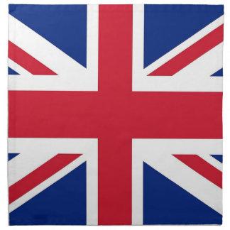 United Kingdom flagga på den MoJo servetten Servett Med Tryck