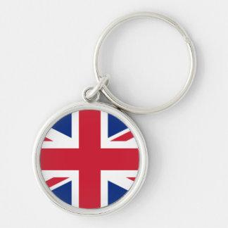 United Kingdom Rund Silverfärgad Nyckelring