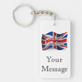 United Kingdom som vinkar flagga