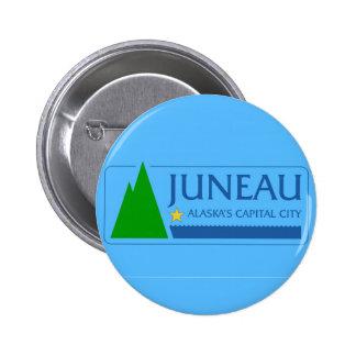 United States Amerika för Juneau stadsAlaska Standard Knapp Rund 5.7 Cm
