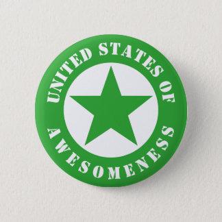 United States av Awesomeness Standard Knapp Rund 5.7 Cm