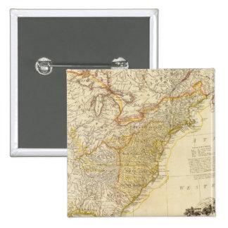 United States av den Nordamerika kartboken kartläg Standard Kanpp Fyrkantig 5.1 Cm