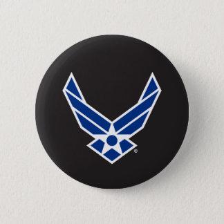 United States flygvapenlogotyp - blått Standard Knapp Rund 5.7 Cm