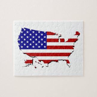 United States kartlägger & denRandar flagga Pussel