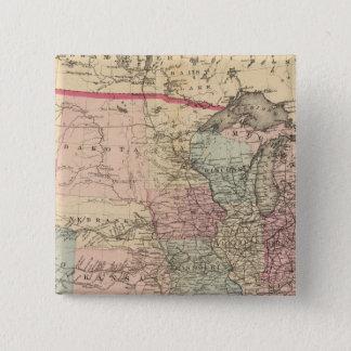 United States kartlägger med den uttryckliga rutte Standard Kanpp Fyrkantig 5.1 Cm