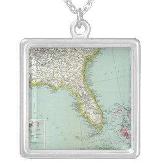 United States och Bahamas Silverpläterat Halsband