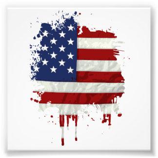 United States sjunker målar splatteren Fototryck