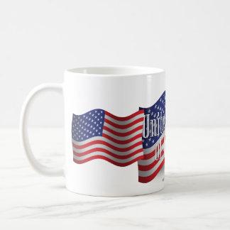 United States som vinkar flagga Kaffemugg