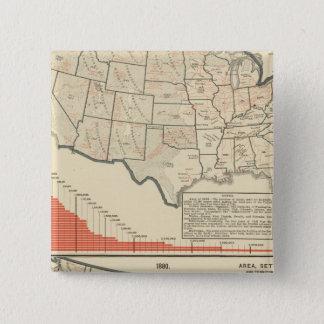 United States tematisk kartor Standard Kanpp Fyrkantig 5.1 Cm