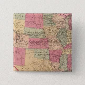 United States & territorier Standard Kanpp Fyrkantig 5.1 Cm