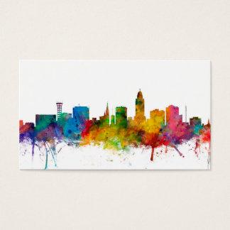 """United States"", USA, ""stadshorisont"", akvarell, Visitkort"