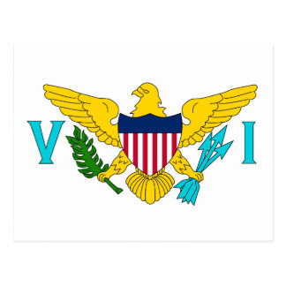 United States Virgin Islands flagga Vykort