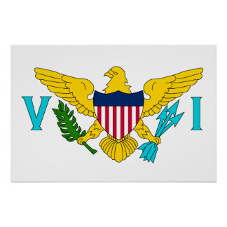 United States Virgin Islands United States sjunker Affisch
