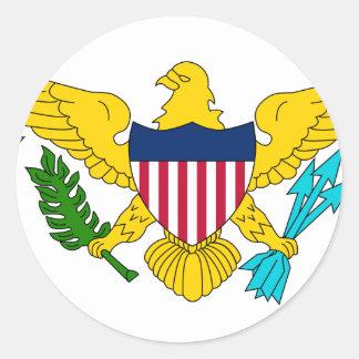 United States Virgin Islands United States sjunker Runt Klistermärke
