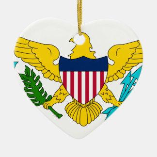 United States Virgin Islands United States sjunker Hjärtformad Julgransprydnad I Keramik